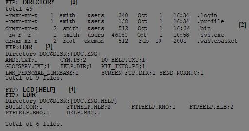 3  FTP: Transferring Files - TCPware 6 0 User's Guide